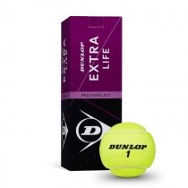 Doos met 3 tennisballen Dunlop Extra Life