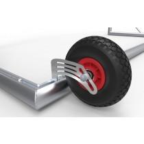 Transportwiel voor verplaatsbaar voetbaldoel