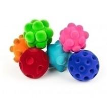 Set van 6 tactiele Rubbabu-ballen
