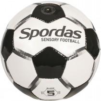 Voetbal met geluids- en afremknikkers