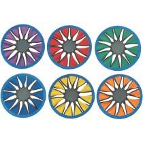 Set van 6 neopreen werpschijven