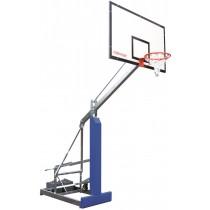 Mobiel basketbaldoel met overhang 125cm
