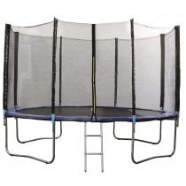 Trampoline met veiligheidsnet en afdekzeil