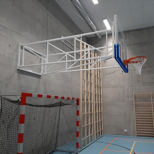 een van de realisaties van Idema in een sporthal